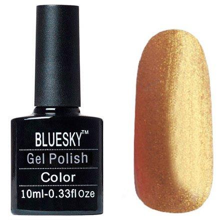Bluesky Шеллак, цвет №064Bluesky 10 мл<br>Гель-лак золотой с блестками, плотный.<br>