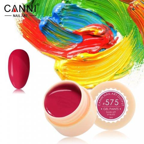 Canni, Гель-краска №575Гель краски Canni<br>Гель-краска, пастельный красный цвет, с липким слоем<br>