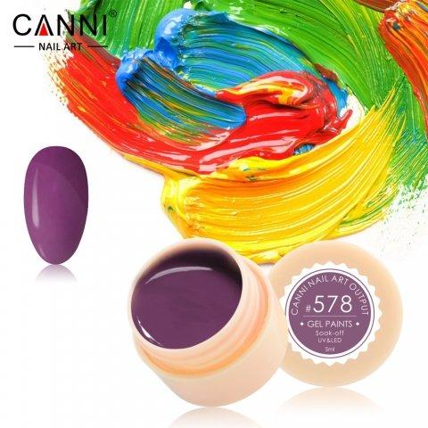 Canni, Гель-краска №578Гель краски Canni<br>Гель-краска, пастельно-лиловый оттенка, с липким слоем<br>