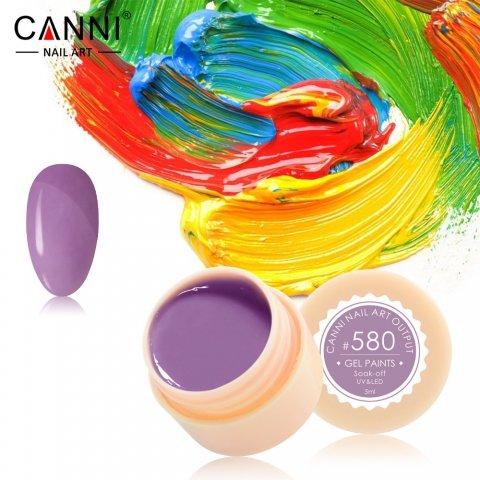 Canni, Гель-краска №580Гель краски Canni<br>Гель-краска,пастельно-лиловый оттенка, с липким слоем<br>