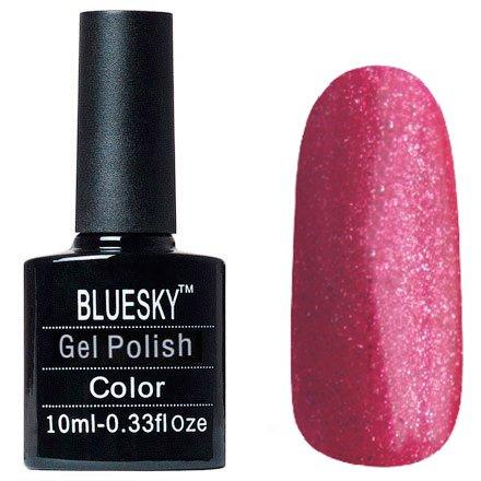 Bluesky Шеллак, цвет №065Bluesky 10 мл<br>Гель-лак малиновый с блестками, плотный.<br>