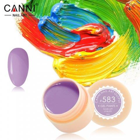 Canni, Гель-краска №583Гель краски Canni<br>Гель-краска,светлого фиолетово-лилового цвета, с липким слоем<br>