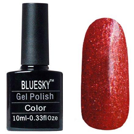 Bluesky, Шеллак цвет №066Bluesky 10 мл<br>Гель-лак оранжево-красный с блестками, плотный.<br>