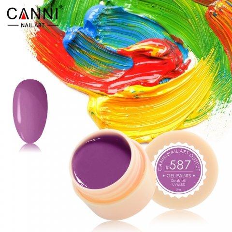 Canni, Гель-краска №587Гель краски Canni<br>Гель-краска,пурпурного оттенка, с липким слоем<br>