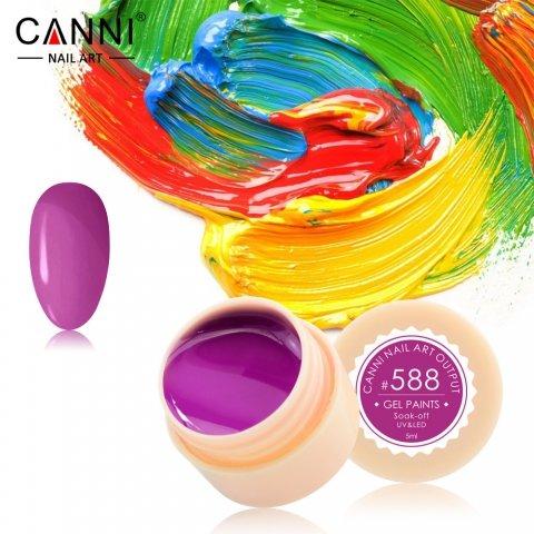 Canni, Гель-краска №588Гель краски Canni<br>Гель-краска,фиолетового оттенка, с липким слоем<br>