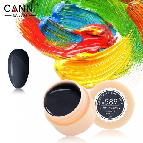 Canni, Гель-краска №589Гель краски Canni<br>Гель-краска,чёрного цвета, с липким слоем<br>