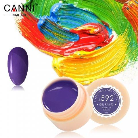 Canni, Гель-краска №592Гель краски Canni<br>Гель-краска,аметистовый цвет, с липким слоем<br>