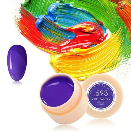 Canni, Гель-краска №593Гель краски Canni<br>Гель-краска,светлый сливовый цвет, с липким слоем<br>