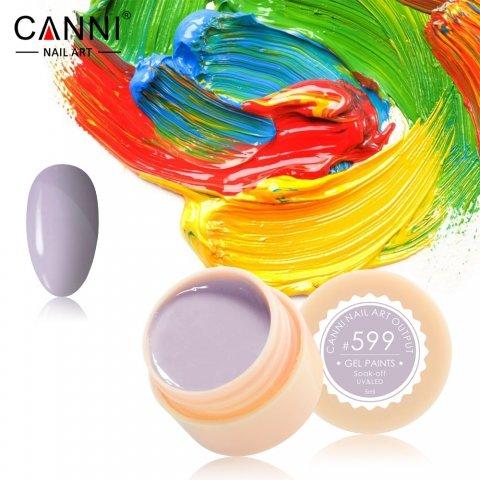 Canni, Гель-краска №599Гель краски Canni<br>Гель-краска, имеетсветло-серый оттенок, с липким слоем<br>