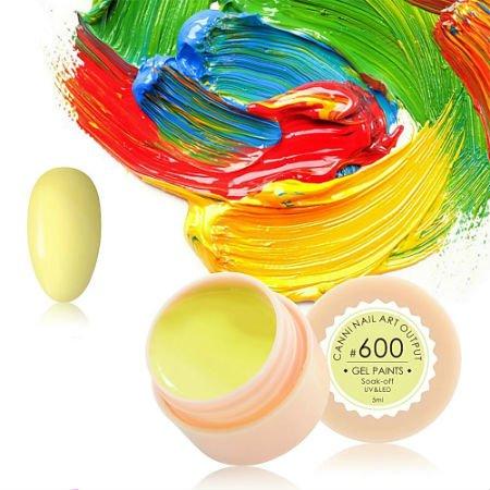 Canni, Гель-краска №600Гель краски Canni<br>Гель-краска, песочного цвета, с липким слоем<br>