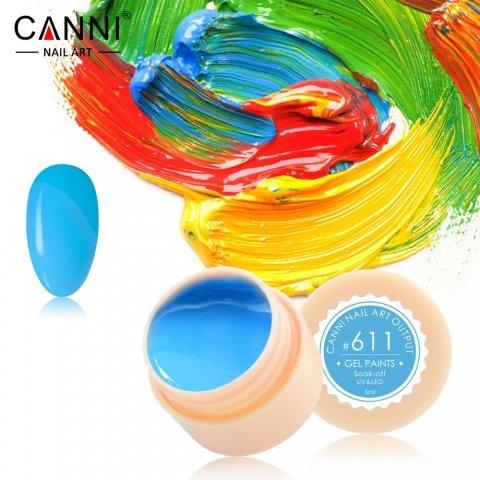 Canni, Гель-краска №611Гель краски Canni<br>Гель-краска, небесно-голубой цвет,с липким слоем<br>