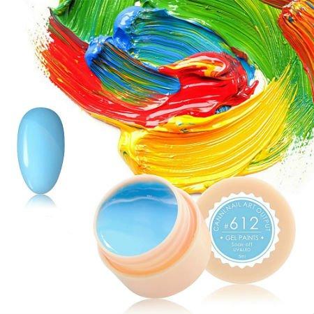 Canni, Гель-краска №612Гель краски Canni<br>Гель-краска, светло-голубого цвета,с липким слоем<br>