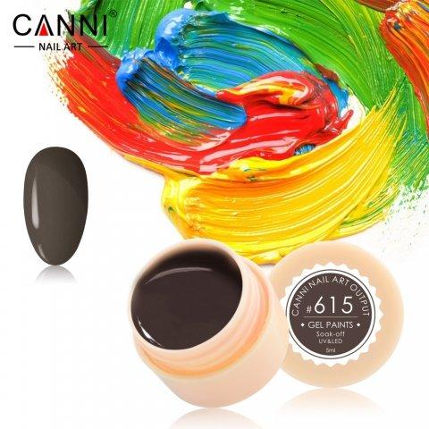 Canni, Гель-краска №615Гель краски Canni<br>Гель-краска, серо-коричневый оттенок,с липким слоем<br>