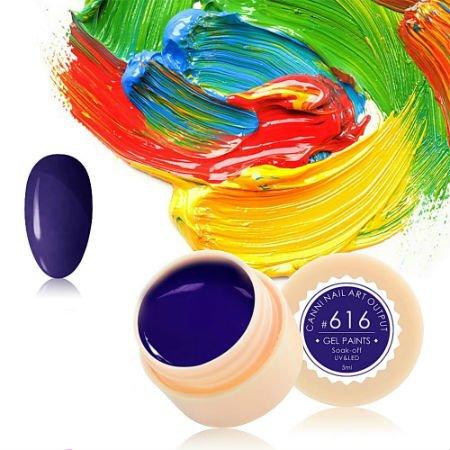 Canni, Гель-краска №616Гель краски Canni<br>Гель-краска, сине-фиолетовый цвет,с липким слоем<br>