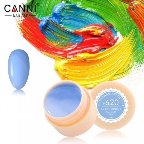 Canni, Гель-краска №620Гель краски Canni<br>Гель-краска, пастельно-голубой цвет,с липким слоем<br>