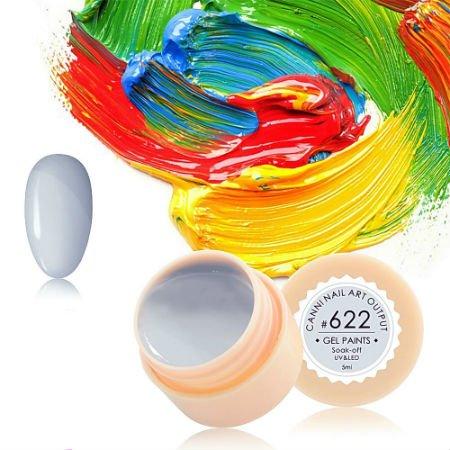 Canni, Гель-краска №622Гель краски Canni<br>Гель-краска, серо-белого цвета,с липким слоем<br>