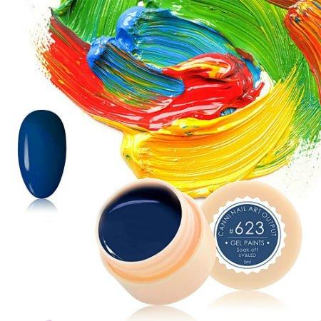 Canni, Гель-краска №623Гель краски Canni<br>Гель-краска, тёмно-синего цвета,с липким слоем<br>