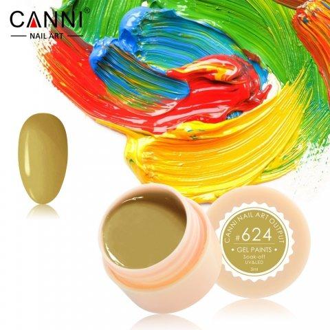 Canni, Гель-краска №624Гель краски Canni<br>Гель-краска, горчичный оттенок,с липким слоем<br>
