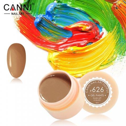 Canni, Гель-краска №626Гель краски Canni<br>Гель-краска, светло-коричневый оттенок,с липким слоем<br>