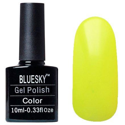 Bluesky, Шеллак цвет Z101 10mlBluesky 10 мл<br>Гель-лак неоновый желто-зеленый, без блесток и перламутра, полупрозрачный.<br>