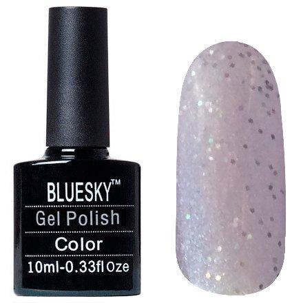 Bluesky, Шеллак цвет Z187 10mlBluesky 10 мл<br>Гель-лак полупрозрачный сиреневый шиммер, с голографическими блестками<br>