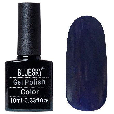 Bluesky, Шеллак цвет Z213 10mlBluesky 10 мл<br>Гель-лак чернильно-синий, с зелеными и синими блестками, плотный<br>
