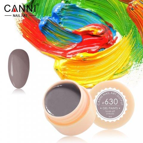 Canni, Гель-краска №630Гель краски Canni<br>Гель-краска,коричнево-серого цвета,с липким слоем<br>