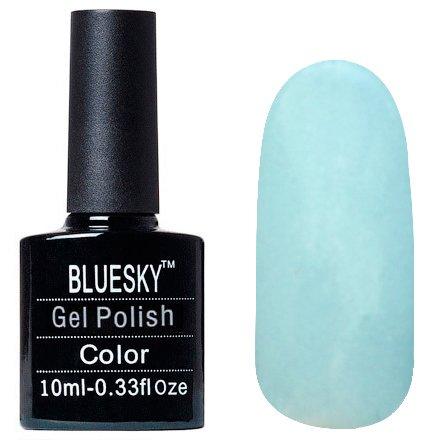 Bluesky, Шеллак цвет Z223 10mlBluesky 10 мл<br>Гель-лак голубой, с шиммером, плотный<br>