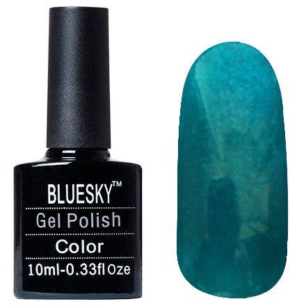 Bluesky, Шеллак цвет Z227 10mlBluesky 10 мл<br>Гель-лак цвета зеленки, с шиммером, полупрозрачный<br>