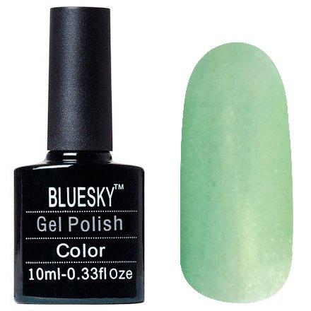 Bluesky, Шеллак цвет Z235 10mlBluesky 10 мл<br>Гель-лак салатовый, с золотым шиммером, полупрозрачный<br>