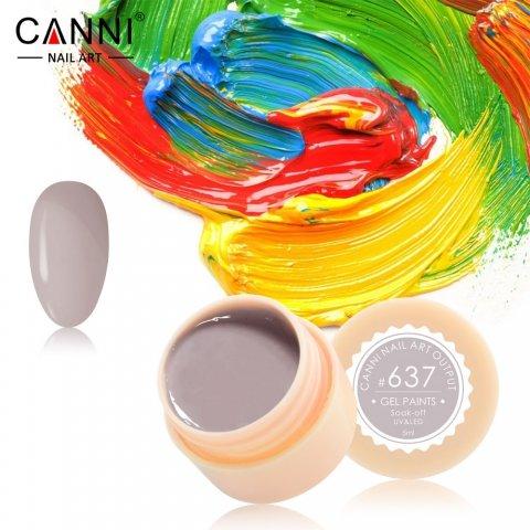 Canni, Гель-краска №637Гель краски Canni<br>Гель-краска, серо-бежевый цвет,с липким слоем<br>