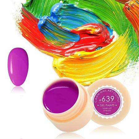 Canni, Гель-краска №639Гель краски Canni<br>Гель-краска, фиолетово-сиреневого цвета,с липким слоем<br>