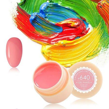 Canni, Гель-краска №640Гель краски Canni<br>Гель-краска, нежно-розового цвета,с липким слоем<br>