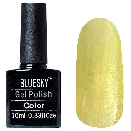 Bluesky, Шеллак цвет Z247 10mlBluesky 10 мл<br>Гель-лак светло-желтый, с блестками, полупрозрачный<br>