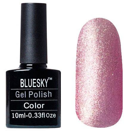 Bluesky Шеллак, цвет Z302 10mlBluesky 10 мл<br>Гель-лак розово-серебристый шиммер, с голографическими блестками, полупрозрачный<br>