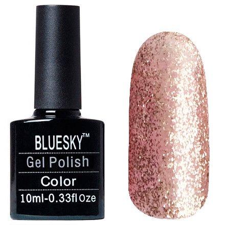 Bluesky Шеллак, цвет Z311 10mlBluesky 10 мл<br>Гель-лак светлый розовой полупрозрачный, с большим количеством серебряных блесток<br>