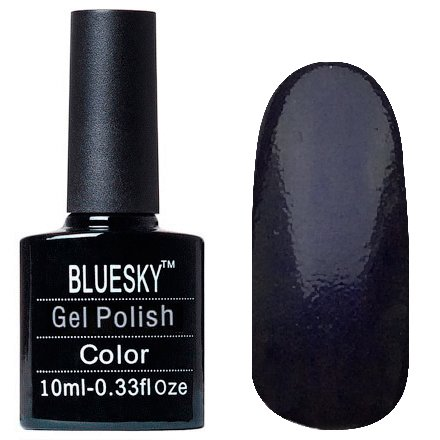 Bluesky, Шеллак цвет Z329 10mlBluesky 10 мл<br>Гель-лак иссиня, с едва заметным микроблеском, плотный<br>