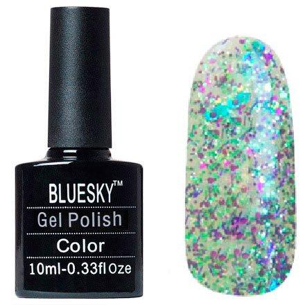 Bluesky, Шеллак цвет №127Bluesky 10 мл<br>Гель-лак прозрачный с крупными, мелкими блестками и стружка.<br>
