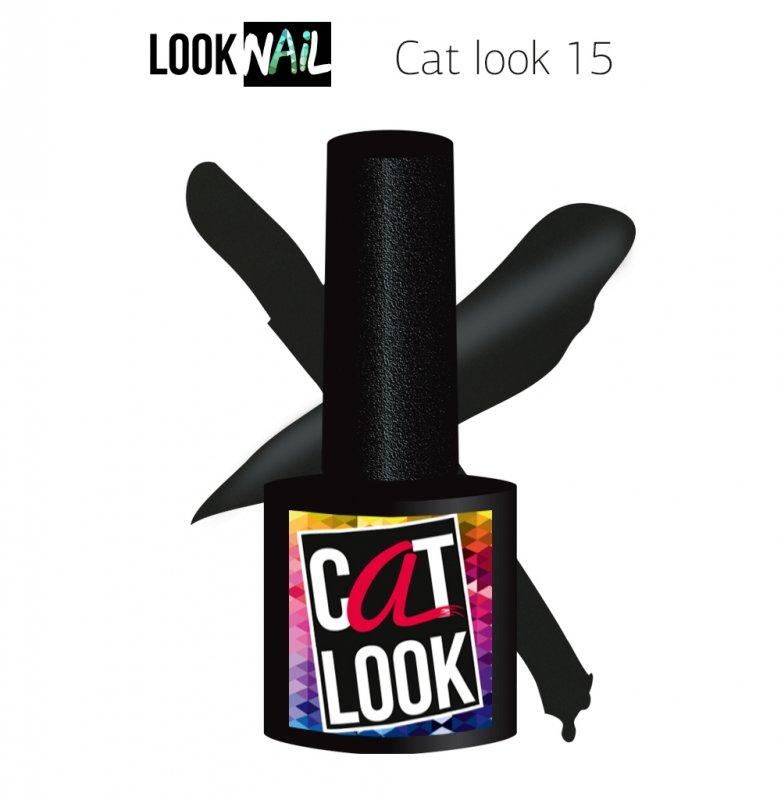 Look Nail, Cat Look - Кошачий глаз №15 (10 ml.)Look Nail<br>Гель-лак кошачий глаз, графитовый, перламутровый,плотный<br>