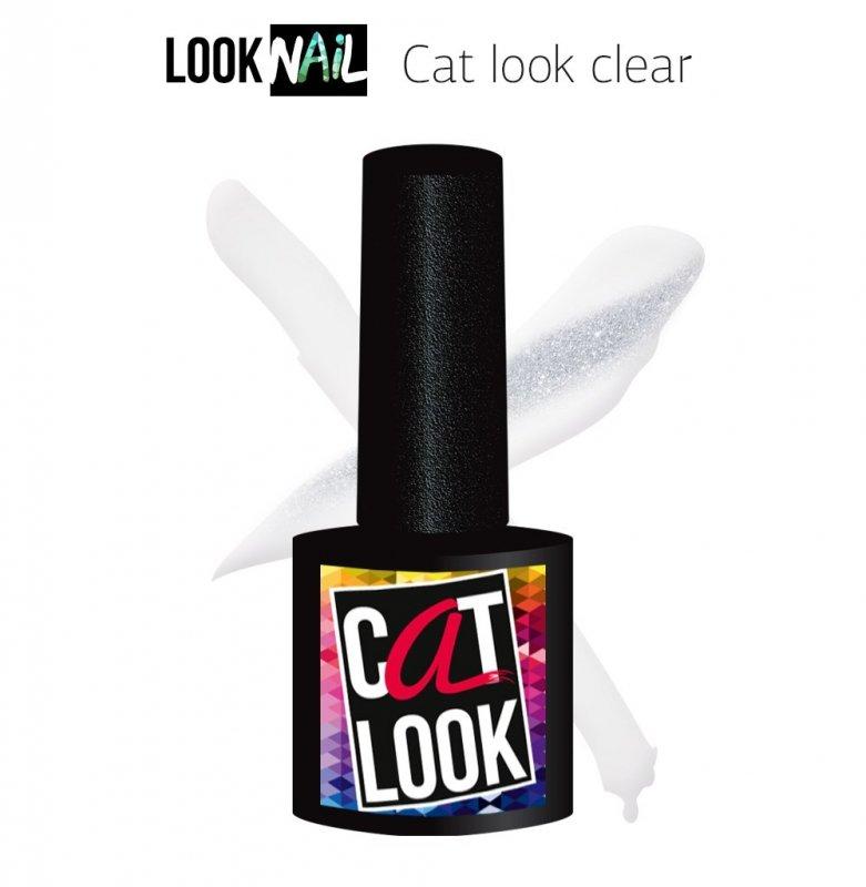 Look Nail, Cat Look Clear - Кошачий глаз прозрачный (10 ml.)Look Nail<br>Гель-лак кошачий глаз, прозрачныйс серебряным бликом<br>