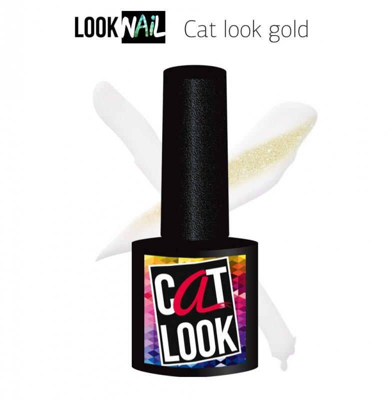 Look Nail, Cat Look Gold - Кошачий глаз золотой (10 ml.)Look Nail<br>Гель-лак кошачий глаз, прозрачныйсзолотым бликом<br>