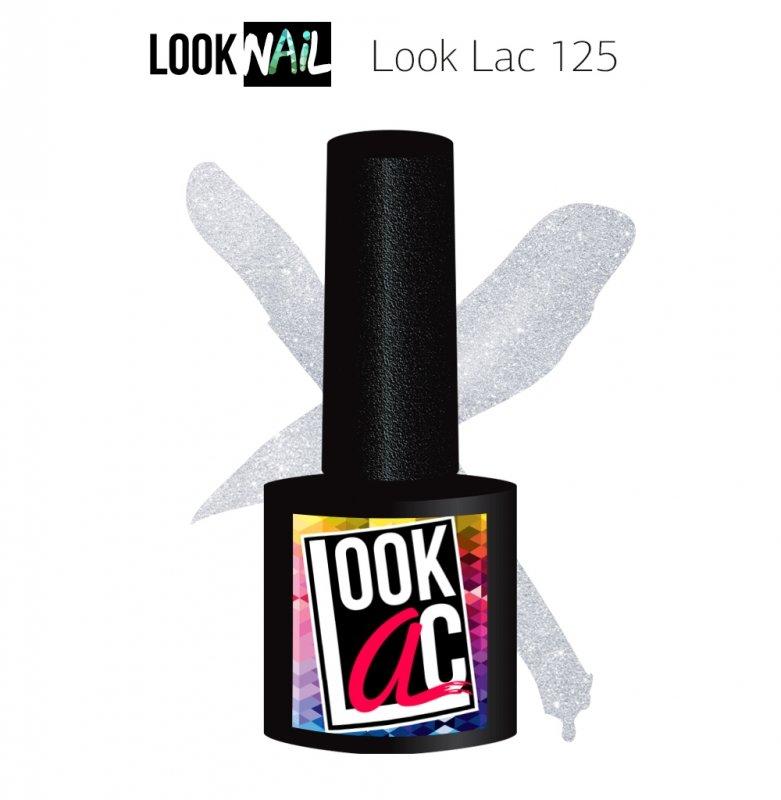 Look Nail, LookLAC - Гель-лак №125 (10 ml.)Look Nail<br>Гель-лак прозрачный с перламутром<br>