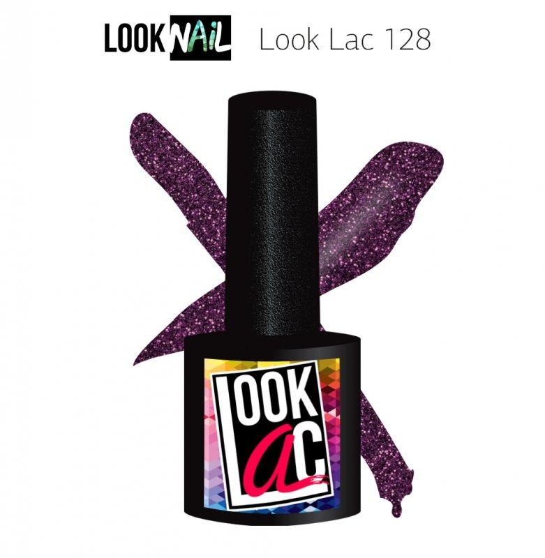 Look Nail, LookLAC - Гель-лак №128 (10 ml.)Look Nail<br>Гель-лак космическое небо, с блестками, плотный<br>