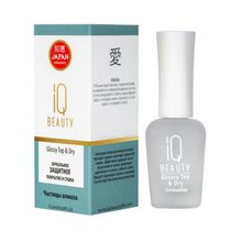 IQ Beauty, Glossy Top & Dry - Зеркальное защитное покрытие и сушка (12,5 мл.)