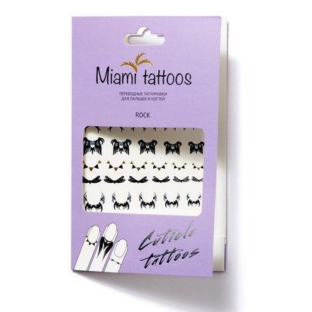 Miami Tattoos, Переводные татуировки - RockПереводные тату Miami Tattoos<br>Флеш-тату для пальцев и ногтей.<br>