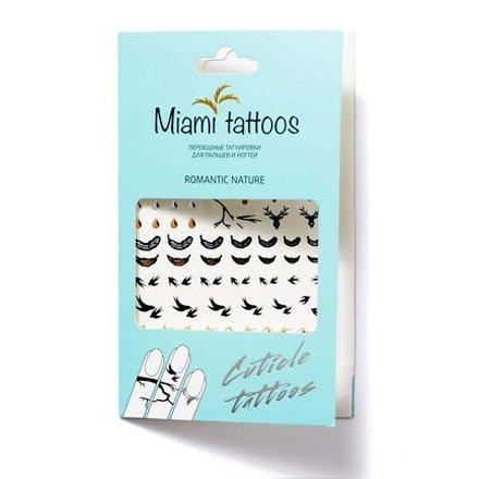 Miami Tattoos, Переводные татуировки Romantic NatureПереводные тату Miami Tattoos<br>Флеш-тату для пальцев и ногтей.<br>