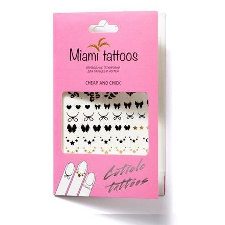 Miami Tattoos, Переводные татуировки Cheap&amp;ChickПереводные тату Miami Tattoos<br>Флеш-тату для пальцев и ногтей.<br>
