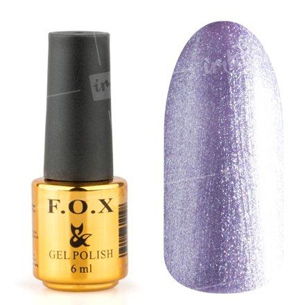 F.O.X, Гель-лак - Pigment №036 (6 ml.)F.O.X<br>Гель-лак сиреневый, с большим количеством микроблесток, плотный<br>