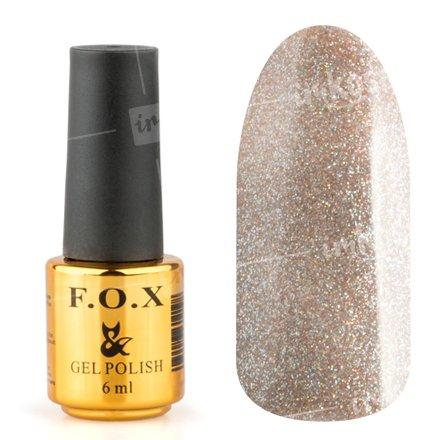 F.O.X, Гель-лак - Pigment №037 (6 ml.)F.O.X<br>Гель-лак полупрозрачный с большим количеством золотых и голографических микроблесток<br>