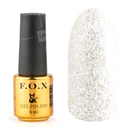 F.O.X, Гель-лак - Pigment №040 (6 ml.)F.O.X<br>Гель-лак прозрачный, с большим количеством серебряных блесток и сиреневых микроблесток<br>